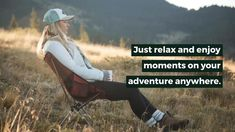 Whether using it as a folding chair for camping, backpacking, or sporting events, this essential gear is equipment that you must have! Let's go outside and enjoy it! Camping Furniture, Camping Chairs, Camping List, Camping Gear, Backpacking Chair, Lower Back Support, Just Relax, Carry On Bag, Folding Chair
