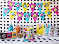 Girl Superhero Birthday Party Package {12}