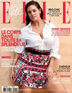Plus size model Ashley Graham graces the July 14th, 2017, cover of ELLE France. Photographed by Matt Jones, the 'America's Next Top Model' judge poses in a Marina Rinaldi shirt with a Dolce & Gabbana printed skirt. Inside the magazine, Ashley shows off her curves in laid-back styles perfect for summer. Stylist Diane Boulenger dresses...[Read More]