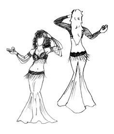 MX9802 - The Marvelous Mermaid and Fabulous Fishtail Belly Dance Skirt Pattern via Etsy
