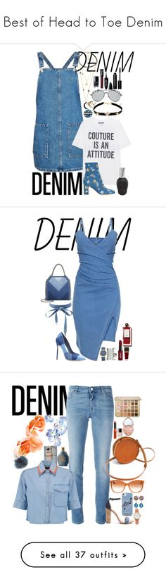 """Best of Head to Toe Denim"" by fashion-nova ❤ liked on Polyvore featuring Givenchy, Topshop, Moschino, Valentino, Swarovski, WithChic, AZZA FAHMY, Chanel, NARS Cosmetics and Maybelline"
