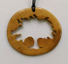 Tree Pendant Oak Tree Necklace Wooden by Kvawoodjewellery on Etsy