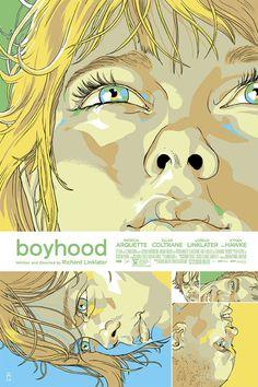 """Affiche originale Mondo """"Boyhood"""" par Tomer Hanuka (07/18/14) numérotée. Taille 24""""X36"""". Regular 225 exemplaires au monde. @asgalerie #asgalerie #TomerHanuka #Mondo #boyhood."""