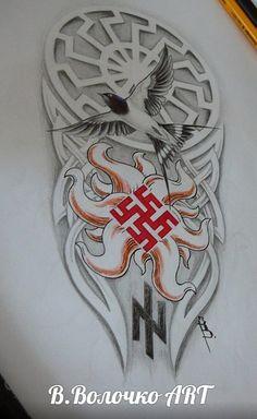 Эскизы татуировок участников наше..