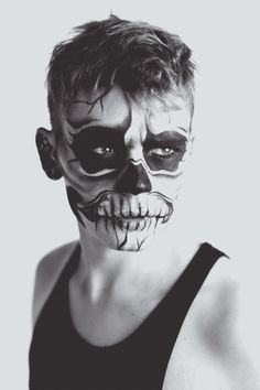 Skull makeup black and white makeup skull halloween adult costume ideas men's costume
