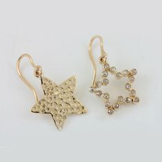 our jewelry. Solid Gold Jewelry, Fine Jewelry, White Gold Diamonds, Natural Diamonds, Earrings Handmade, Handmade Jewelry, Diamond Studs, Star, Yellow