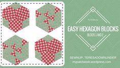Video tutorial: Hexagon quilt block 1 and 2