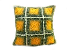Love this retro Decorative PillowcaseHandmadeHand crochetshabby by ewairena