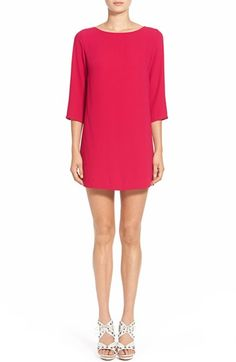 Leith Boatneck Crepe Shift Dress available at #Nordstrom