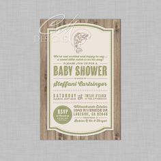 Fishing/Fish Theme Baby Shower Invitation By DesignsbyCassieCM