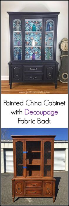 Take that vintage china cabinet and give it a makeover. Love painted furniture? Go one step further and add decoupage to the back with decorative fabric for a real wow result!
