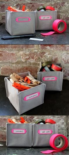 Amazing DIY FABRIC BOXES