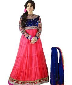 #Juhi #Women's #Embroidered #Semi-stitched #Salwar #Suit #Dupatta #Material #Anarkali #Dress #SalwarKameez #BollywoodFashion #RoyalBlue #Blue #Pink #Designer #Salwar #Kameez #Chiffon #Dupatta #Awesome #Indianfashion #Gorgeous #look #style  #Shop #Buy #online #india