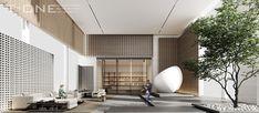 Sales Office, Divider, Space, Hospitality, Interior, Room, Sketch, Furniture, Design