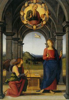 The Annunciation of Mary, 1489 Pietro Perugino -