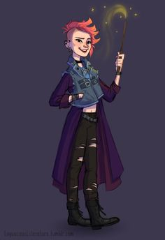 Wotcher, Harry! - Exactly what Tonks would have looked like in the 80s. Hella punk rock!