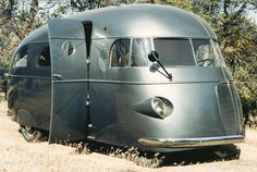 Outdoor classic RV geeking. A 1937 Hunt House Car with First the Working RV Shower.