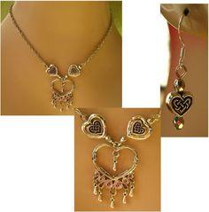 Silver Celtic Knot Heart Necklace & Earrings Set Jewelry Set Handmade Fashion #handmade http://cgi.ebay.com/ws/eBayISAPI.dll?ViewItem&item=161435366771