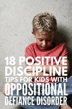 Discipline tips for kids with oppositional defiance disorder Dealing with oppositional defiant disorder at home or in the classroom? We've got 18 ODD discipline tips to help with problem behaviors in a positive way! Classroom Behavior Management, Behaviour Management, Kids Behavior, Behavior Charts, Behavior Plans, Management Tips, Child Behaviour, Behavior Rewards, Odd Disorder