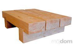 Trojhranolový konferenčný stolík vyrobený rojhranolový konferenčný stolík vyrobený z celomasívnych dubových hranolov z takzvaného zeleného duba. Konečná úprava prírodným bezfarebným voskom. Desaťročná záruka. Rozmery: š 110 × h 50 × v 32 cm. Cena 450 €. Predáva Drevo Shop.