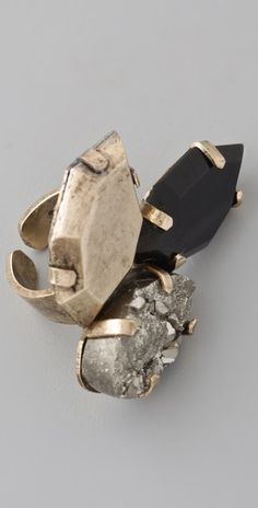 Citrine by the Stones  Triple Facette Ring
