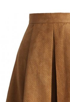 Simple, chic and full of fall slayage! This Eyelet Full A-line skirt is the perfect closet staple with its cozy suede material and large pleats. Slide into a thick sweater to keep warm and stylish this fall with a looser silhouette. Slim the look down at the feet with pointed toe heels!  - Eyelet trimmed overlay - Crafted from faux suede fabric - Subtle pleats from waist - Concealed side zip closure - Lined - 100% Polyamide - Hand wash  Size(cm) Length  Waist  S                 69       72…