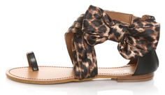cute sandals with a bow and leopard print!!