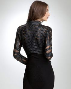 Black Leather Jacket For Girls With Stylish Lace