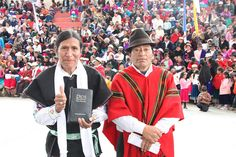 Reinaldo Chimborazo, one of the translators of the Quichua Cañar Bible, dedicated in Cañar, Ecuador, on March 19, 2011. / BIBLE IN MY LANGUAGE