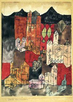 blushingcheekymonkey:  paul klee - city of churches (1918)