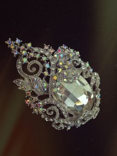 Mitch one of a kind find crystal brooch by DreamcatcherStudio, $78.00