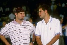 Andre Aggasi and Pete Sampras- loved watching them compete
