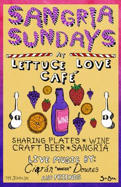 Join us every Sunday for #sangriasunday on the patio! Live music, drinks, shared plates, a whole lot of love and fun of course!