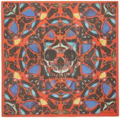 Hirst x McQueen limited edition scarves | Yellowtrace