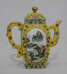 Chinese Famille Rose Porcelain Teapot with Mark | eBay