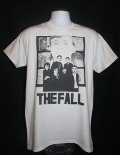 brand new * the fall band t-shirt mark e smith 80s indie post punk vintage factory 70s retro *  Available in Small, Medium, Large or XL.