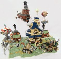LEGO Steampunk Diorama Is All About The Rusty Vehicles