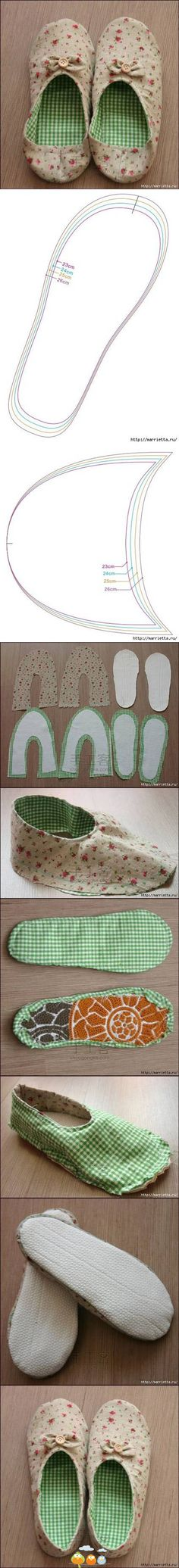 handmade slippers, this looks pretty simple