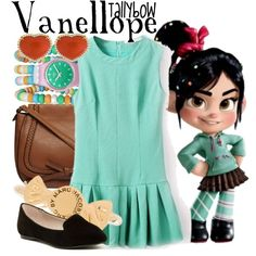 Vanellope by tallybow on Polyvore featuring polyvore fashion style ALDO Dorothy Perkins Marc by Marc Jacobs Disney