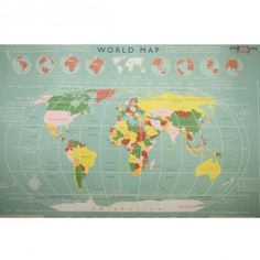Large vintage world map desk tidy is fun vintage styled world map rex world map wrapping paper gumiabroncs Images