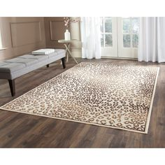 Add a ferociously stylish large leopard rug to your interior decor for a cool, contemporary touch that won't go unnoticed. With ultra-soft construction making it soft underfoot, this cozy rug features a cream background with a leopard print design.