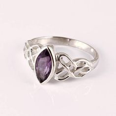 Amethyst 92.5 sterling silver ring ————————————————————————————————————- DESCRIPTION Product Name :-Fine quality Amethyst 92.5 sterling silver ring Polish :-Buff Size :-8 us Qty :- 1 pc Stone Name :-Amethyst Stone Colour :-Purple  We guarantee that this is sterling silver with 92.5