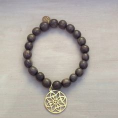 """Greywood and goldplated Sterling Silver Braclet """"Flower"""""""