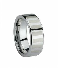 8MM Simple Design Tungsten Carbide Wedding Ring
