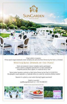 Vă muţumim pentru că aţi fost alături de noi la White& Rose Dinner by the Pool!