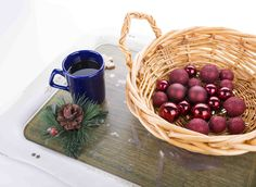 Where do Christmas Ball Ornaments Come From?  #Christmas #Christmas Ball #Christmas Coffee #Christmas Balls #New Year #Celebration #Celebrations #Holiday #holly #pine Fruit # Bright #High key #photo #photography #picture #image #Red #green #Brown #Blue #white #Nostalgia #Nostalgic #Still life photography # still life photo #still life