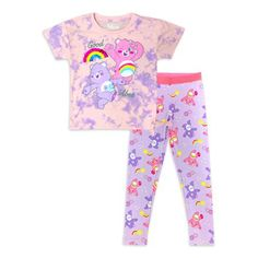 2 Piece Outfits, Girl Outfits, Big Girl Clothes, Pajama Pants, Purple, Care Bears, Kids, Girl Stuff, Gender Female