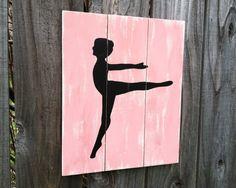 Ballerina Wall Art / Ballet / Dance girls room / by NWrustic, $30.00 Ballet Room, Ballet Dance, Ballerina Party, Girl Room, Toddler Girl, Moose Art, Rooms, Wall Art, Girls