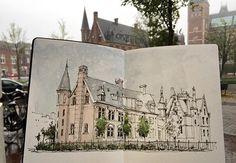 De Teekenschool - Rijksmuseum #sketch #sketching #sketchbook #sketchwalker #TravelSketch #TravelSketcher #Amsterdam #urbansketchers #arqsketch
