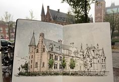De Teekenschool - Rijksmuseum #sketch #sketching #sketchbook #sketchwalker #TravelSketch #TravelSketcher #Amsterdam #urbansketchers #arqsketch